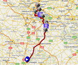 The Paris-Roubaix 2012 race route on Google Maps