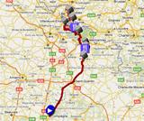 The Paris-Roubaix 2012 race route on Google Maps