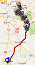 The map with the race route of Paris-Roubaix 2017 on Google Maps