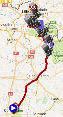 The Paris-Roubaix 2017 race route