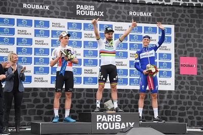 Le podium de Paris-Roubaix 2018