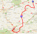 The map with the Paris-Tours 2011 race course on Google Maps