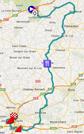 La carte du parcours de Paris-Tours 2013 sur Google Maps