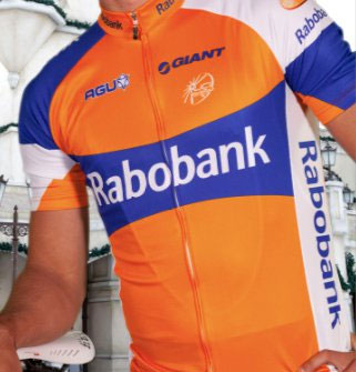 The new shirt of the 2011 Rabobank cycling team