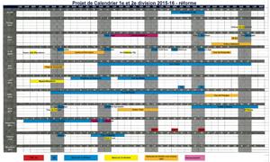 Le calendrier 2015-2016