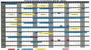 Le calendrier 2017-2020