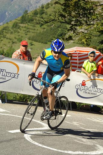 Un client de Sports Tours International sur l'Alpe d'Huez