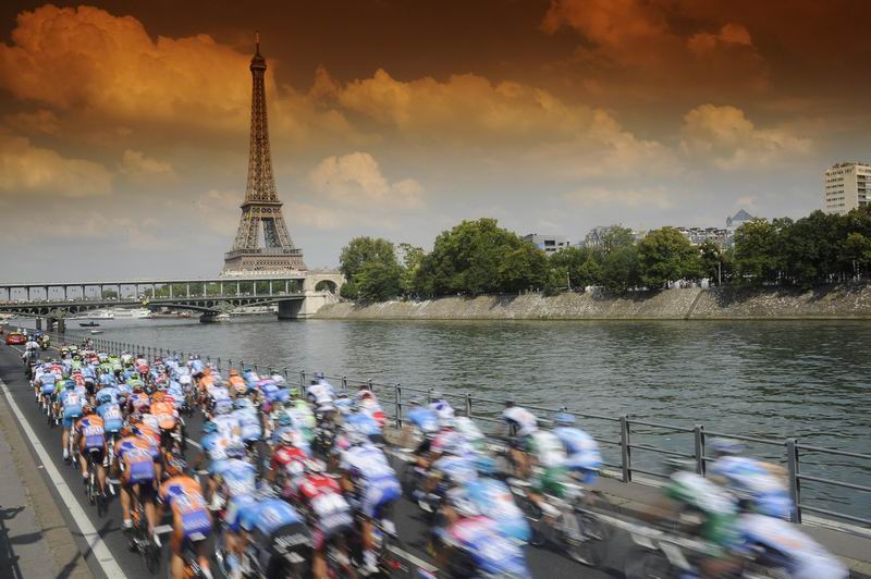 You can be at the Tour de France finish in Paris!
