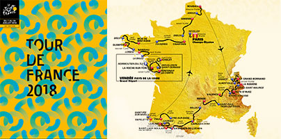 The Tour de France 2018 race route has been presented: food for recognition!