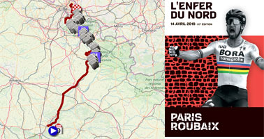 Paris-Roubaix 2019: its race route, its cobble stones sections and other details of the Hell of the North