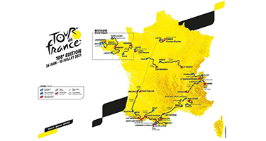 The Tour de France 2021 race route has been presented: a Tour with less climbing but more transfers