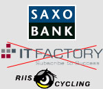 The Saxo Bank <del>IT Factory</del> team's presentation, the team is looking for a new sponsor ...