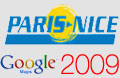 The Paris-Nice 2009 official route in Google Earth / Google Maps and participating riders