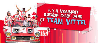 The Team Vittel - de 21ste ploeg in de Tour de France 2009 - heeft nu een eigen blog!