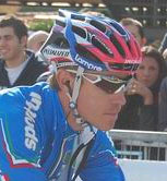 Damiano Cunego (Lampre-NGC) wins the first mountain stage in the Vuelta 2009