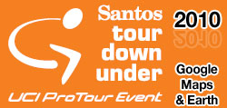 The Santos Tour Down Under 2010 route on Google Maps & Google Earth