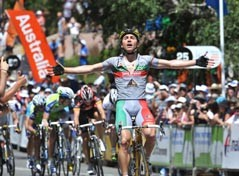 Manuel Cardoso (Footon-Servetto) surprises everyone by winning the third stage of the 2010 Tour Down Under