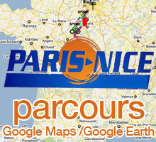 The 2010 Paris-Nice route on Google Maps / Google Earth