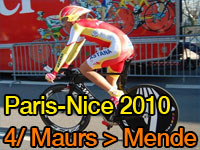 Alberto Contador (Astana) wins the stage in Mende and takes the yellow jersey, Spain reigns in Paris-Nice 2010