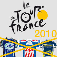 The selected teams for the Tour de France 2010