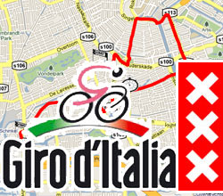 The Giro d'Italia 2010 route on Google Maps/Google Earth and the route and time schedule