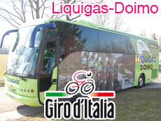 Giro d'Italia 2010 - 4th stage - Liquigas-Doimo wins the team time trial, Vincenzo Nibali takes the maglia rosa