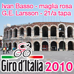 Giro d'Italia 2010: the final time trial for Gustav Erik Larsson, the overall win for Ivan Basso