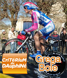 Grega Bole wins the sprint for the 1st stage of the 2010 Critérium du Dauphiné
