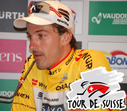 Fabian Cancellara (Saxo Bank) takes the lead by winning the opening time trial in the 2010 Tour of Switzerland