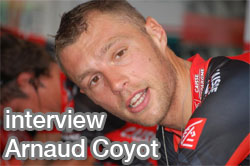 Video interview Arnaud Coyot on the 2010 Tour of Switzerland: his feelings in the time trial and his chances to be at the 2010 Tour de France!