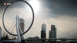 2010 Tour de France teaser Dutch TV: a wheel on the Erasmusbridge