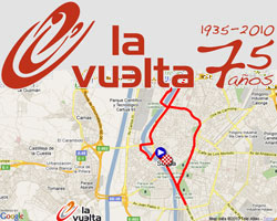 The 2010 Tour of Spain route on Google Maps/Google Earth and the route and time schedule