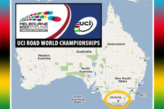 The 2010 UCI World Championships route in Australia on Google Maps/Google Earth and the programme