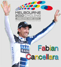 Even in Australia the watch of the Swiss Fabian Cancellara (Team Saxo Bank) shows its superior quality: time trial win in the 2010 World Championships