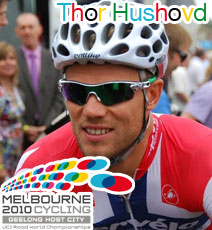 Thor Hushovd (NOR) shows he's the most enduring sprinter at the World Championships 2010 in Melbourne/Geelong
