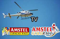 A look behind the scenes of the TV broadcasting of a cycling race - Amstel Gold Race & Amstel Curaçao Race