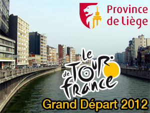 Detailed information about the Grand Départ of the 2012 Tour de France in the Province of Liège