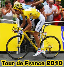 A video summary of the 2010 Tour de France with a perfectly chosen background music