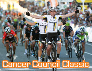 Matthew Goss (HTC-Highroad) remporte le Cancer Council Classic et se prépare pour le Tour Down Under 2011
