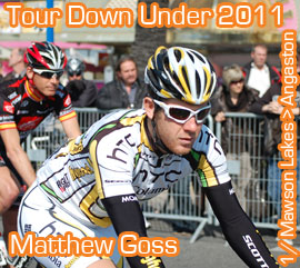 Matthew Goss (HTC-Highroad) confirms his perfect start of the season condition and wins the first stage of the 2011 Tour Down Under
