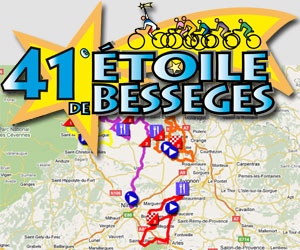 The 2011 Etoile de Bessèges race route on Google Maps/Google Earth
