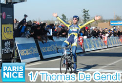 Thomas De Gendt (Vacansoleil) shines under the sun of Houdan - Paris-Nice 2011 first stage