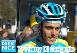 Rémy Di Grégorio (Astana) against wind and rain, winner of the forelast stage of Paris-Nice 2011