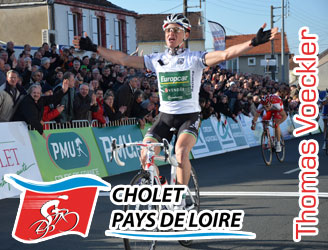 Thomas Voeckler (Team Europcar) wins Cholet-Pays de Loire 2011 in his own way as a finisher