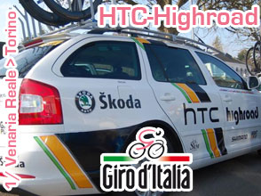 The fight for pink has started: HTC-Highroad wins the team time trial in Turin!