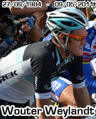 A very sad day for cycling: Wouter Weylandt dies in the Giro d'Italia