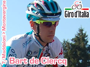 Giro d'Italia 2011: a surprising victory for the Belgian neo pro Bart de Clercq (Omega Pharma-Lotto)