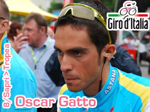 Giro d'Italia 2011: sprinters surprised by a final attack by Oscar Gatto in the 8th stage