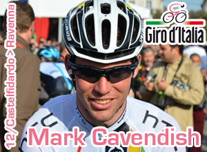 Mark Cavendish gets a 2 out of 5 score in the Giro d'Italia 2011 and leaves the race