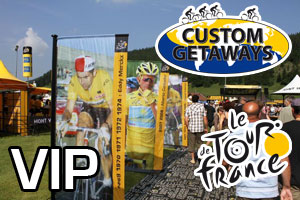 Prize draw: win a VIP day - with a helicopter flight - in the Tour de France 2011 thanks to Custom Getaways!